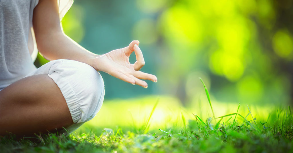 Meditation In A Park - Relieving Anxiety And Stress - PCS Counseling